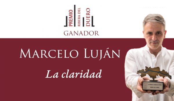 Marcelo Luján, ganador del VI Premio Ribera del Duero por su obra La claridad